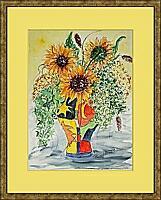 Sonnenblumen; 42x56 cm