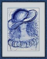 Die blaue Frau; 30x40 cm