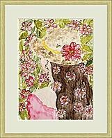 Mädchen mit Hut; 30x40 cm