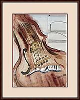 Musica; 24x32 cm