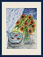 Das Goldfischglas; 40x50 cm