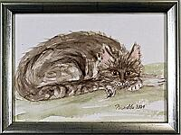 Kitty; 23x17cm