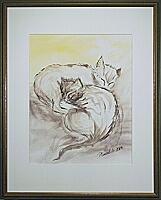 Nina&Tosca; 28x36 cm