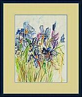 blaue Blumen ; x cm