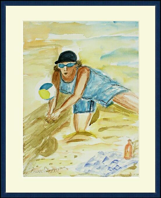 Beachvolley; 30x40 cm
