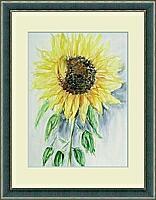 Sonnenblume; 36x47 cm