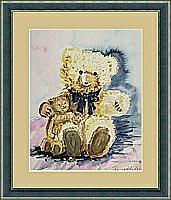 Teddys; 27x35 cm
