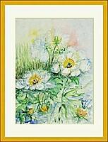 weiße_Blüten; 36x47 cm